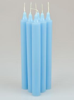 6 bougies teint es masse couleur bleu pastel la boutique des chr tiens. Black Bedroom Furniture Sets. Home Design Ideas
