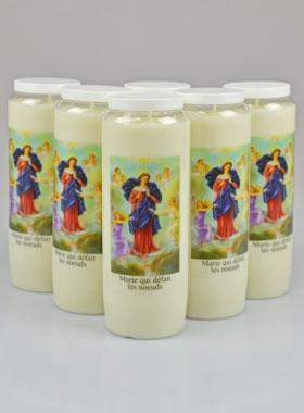 6 bougies de neuvaine qui d 233 fait les noeuds la boutique des chr 233 tiens