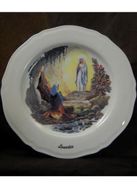 Prière à Sainte Bernadette Assiette-murale-sainte-bernadette-et-limmaculee-conception_1521_1