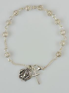 chapelet bracelet argent
