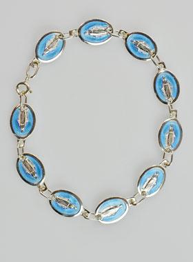 info pour 2b668 a47a8 Bracelet Médaille Vierge Miraculeuse en Argent Massif 925 ...
