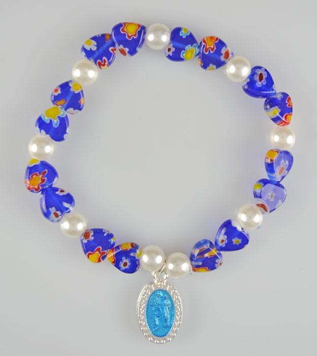 Bracelet religieux m daille de lourdes verre murano la boutique des chr tiens - Boutique verre de murano ...