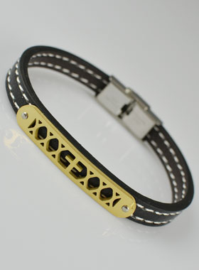 énorme inventaire à vendre couleurs harmonieuses Bracelet Religieux Mode en Cuir - Plaque Croix Or | La ...
