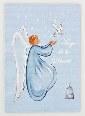 Turbo Carte de Baptême - Ange de la Liberté | La Boutique des Chrétiens PW22