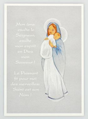 Carte De Bapt 234 Me Pri 232 Re Du Magnificat La Boutique Des