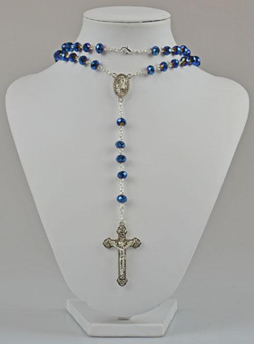 chapelet fashion collier cristal bleu swarovski la boutique des chr tiens. Black Bedroom Furniture Sets. Home Design Ideas