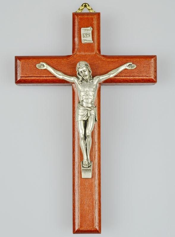 crucifix en bois du christ argent la boutique des chr tiens. Black Bedroom Furniture Sets. Home Design Ideas