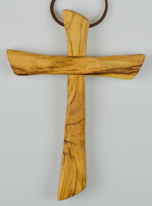 Achat pendentif croix bois