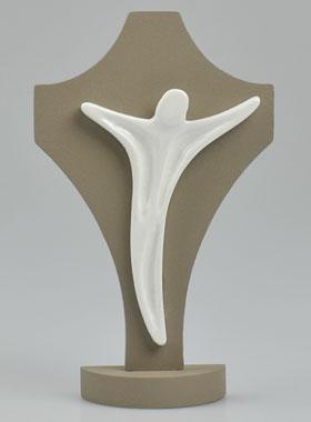 Porte-cl/és Ange-Gardien en Bois dolivier sculpt/é /à la Main