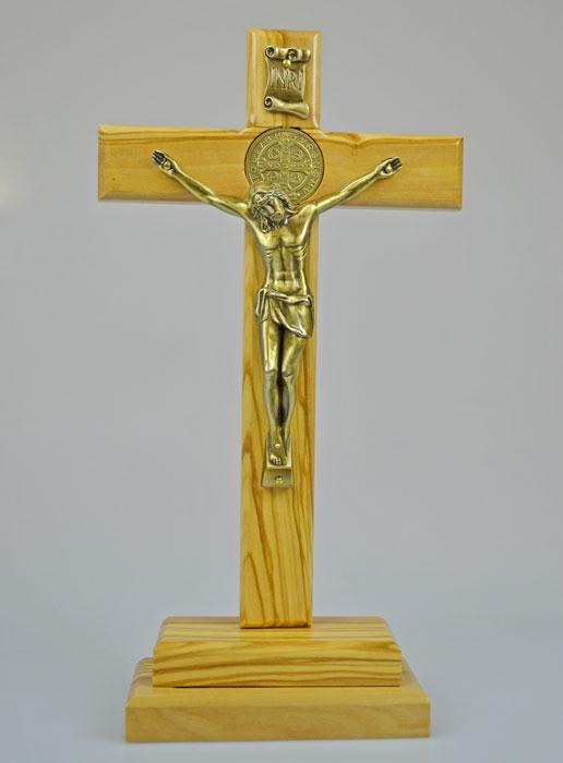 Bien connu Pendentif Croix de Saint Benoit en Bois d'Olivier - 2cm | La  JR68