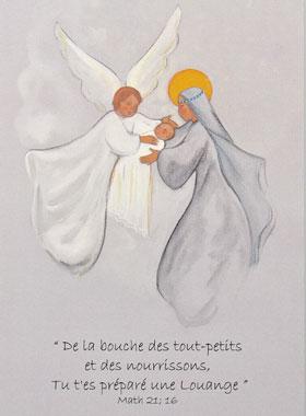Turbo Image de Baptême Vierge Marie et L'Ange | La Boutique des Chrétiens PW22