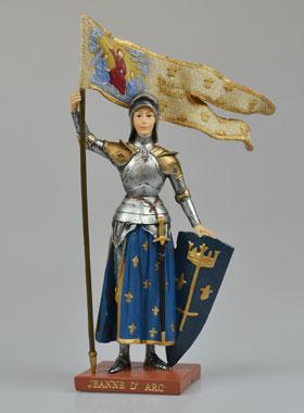 statue sainte jeanne d 39 arc polychrom e 20 cm la boutique des chr tiens. Black Bedroom Furniture Sets. Home Design Ideas