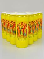 10 Bougies de Neuvaine Jaune - Saints Archanges