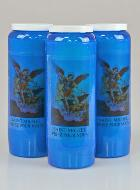 3 Bougies de Neuvaine Bleue - Saint Michel Archange