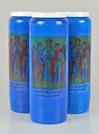 3 Bougies de Neuvaine Bleue - Saints Archanges
