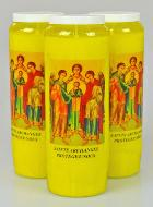 3 Bougies de Neuvaine Jaune - Saints Archanges