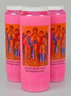 3 Bougies de Neuvaine Rose - Saints Archanges
