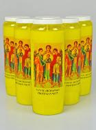 6 Bougies de Neuvaine Jaune - Saints Archanges