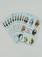 Lot de 10 Cartes Prier nos Saints Protecteurs
