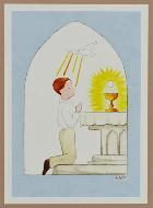 Carte de Communion - Communiant Eucharistie