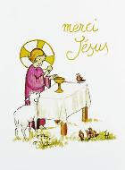 Image de Communion - Merci Jésus - Rose