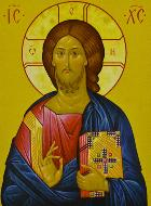 Carte de Communion - Icône Christ Pantocrator