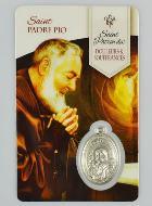 Saint Maximilien Kolbe religieux médaille 3//4 pouces Taille de nickel en Sterling