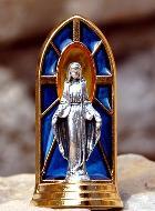 Statue vitrail Vierge Miraculeuse
